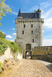 La torre di orologio Fortezza Chinon france Immagine Stock Libera da Diritti