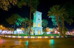 La torre di orologio moderna Fotografia Stock Libera da Diritti