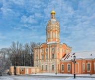 La torre di Riznichnaya del lavra di Alexander Nevsky Immagine Stock Libera da Diritti