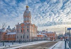 La torre di Riznichnaya del lavra di Alexander Nevsky Immagine Stock