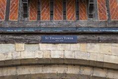 La torre di St Thomas alla torre di Londra Fotografia Stock
