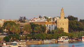 La torre dorata, Siviglia fotografia stock