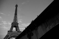 La torre Eiffel 1 Imagen de archivo libre de regalías