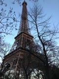 La torre Eiffel al eventide fotografia stock libera da diritti