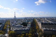 La Torre Eiffel in autunno Fotografie Stock