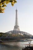 La Torre Eiffel ed il fiume Seine Fotografia Stock