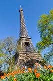La torre Eiffel en París Imagen de archivo