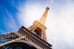 La torre Eiffel mágica foto de archivo