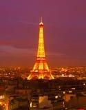 La torre Eiffel, París Imagenes de archivo