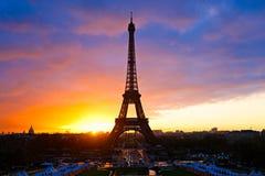 La torre Eiffel, Parigi. Immagini Stock Libere da Diritti