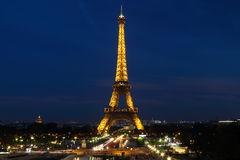 La Torre Eiffel a Parigi Fotografia Stock