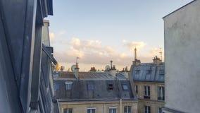 La torre Eiffel y el top del loof de París Fotografía de archivo libre de regalías