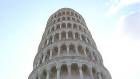La torre famosa de Pisa - señal importante en Toscana - Toscana metrajes