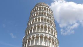 La torre famosa de Pisa - señal importante en Toscana - Toscana almacen de video
