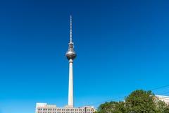 La torre famosa della televisione a Berlino, Germania Fotografie Stock