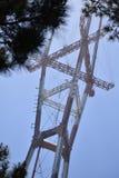 La torre iconica di San Francisco Sutro sale sopra l'orizzonte, 4 Fotografie Stock