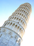 La torre inclinada de Pisa Foto de archivo libre de regalías