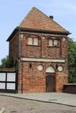 La torre medieval de Putinnen en Tangermuende Foto de archivo libre de regalías