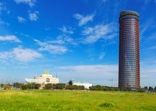 La Torre Pelli the highest building in Seville. Spain Stock Photo
