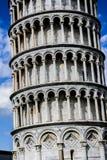 La torre pendente di Pisa (dettaglio) Immagini Stock