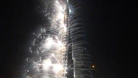 La torre più alta del mondo di Burj Khalifa (828 metri) stock footage