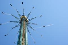 La torre Praterturm di Prater nel parco di Prater, Vienna, Austria Immagine Stock Libera da Diritti