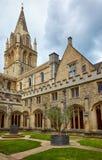 La torre que cruza de la catedral de la iglesia de Cristo Universidad de Oxford inglaterra fotografía de archivo libre de regalías