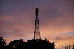 La torre radiofonica di Shukhov a Mosca Immagine Stock