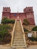 La torre rossa a Malta immagini stock libere da diritti