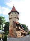 La torre Sibiu de los carpinteros Imágenes de archivo libres de regalías