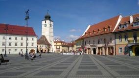 La torre Sibiu del Consiglio Immagini Stock Libere da Diritti