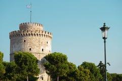 La torretta bianca di Salonicco Immagini Stock