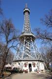 La torretta dell'allerta di Petrin Fotografia Stock