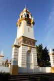 La torretta di orologio commemorativa della betulla Fotografia Stock Libera da Diritti