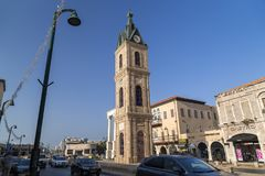 La torretta di orologio del Jaffa immagine stock