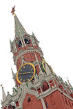 La torretta di Spasskaya (salvatore), Mosca, Russia Fotografie Stock