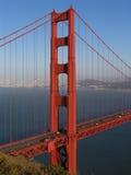 La torretta nordica del ponticello di cancello dorato ha concentrato Fotografia Stock