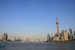 La torretta orientale della perla TV di Schang-Hai Fotografia Stock