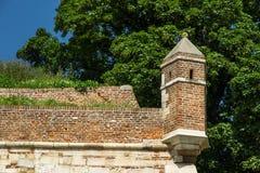 La torretta sulla fortezza Fotografia Stock