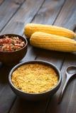 La torta cilena del cereale ha chiamato Pastel de Choclo Immagini Stock Libere da Diritti