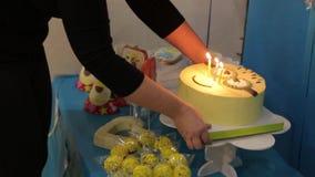 La torta con las velas