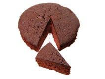 La torta de chocolate junta las piezas de 2 imagenes de archivo