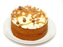 La torta del caramelo remató con el chocolate Foto de archivo libre de regalías
