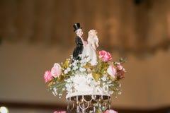La torta del vintage adorna para la ceremonia de boda Fotografía de archivo libre de regalías