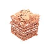 La torta di cioccolato ha isolato Fotografia Stock Libera da Diritti