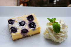 La torta di formaggio del mirtillo fotografia stock