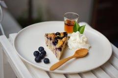 La torta di formaggio del mirtillo immagine stock libera da diritti