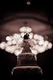 La torta hermosa adorna para la ceremonia de boda Fotografía de archivo libre de regalías