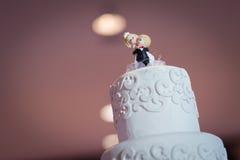 La torta hermosa del vintage adorna para la ceremonia de boda Imágenes de archivo libres de regalías
