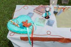 La torta nunziale Immagini Stock Libere da Diritti